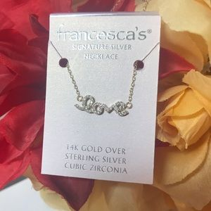 Francesca's LOVE 14K Gold Sterling Silver Necklace